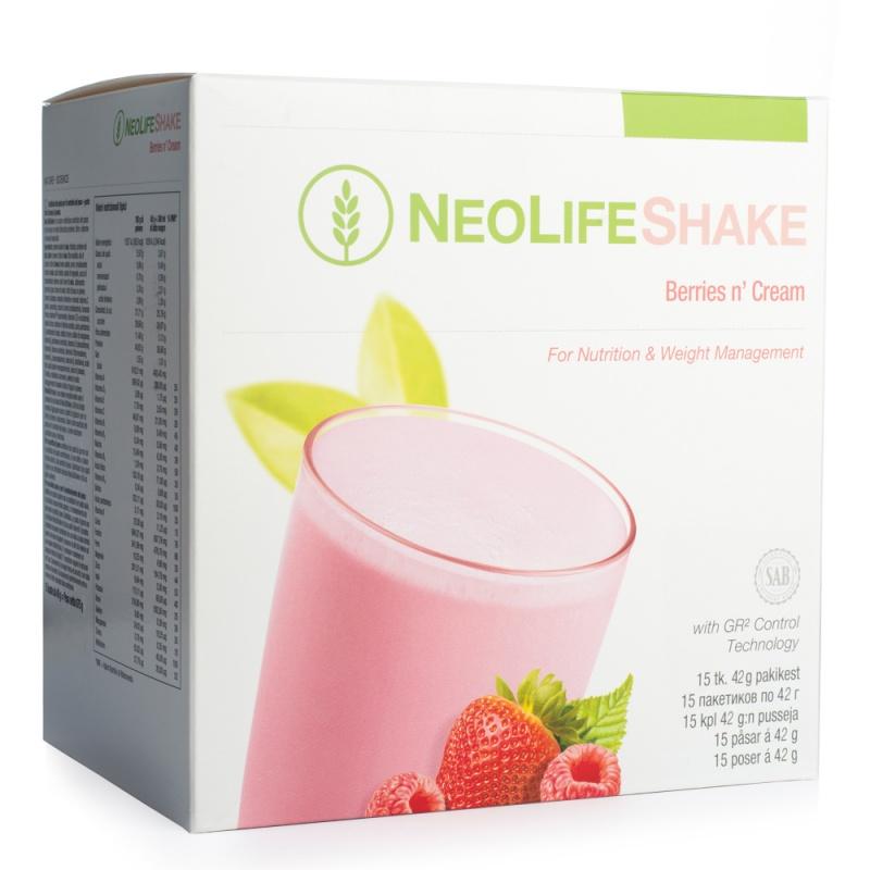 """""""NeoLifeShake"""", baltyminis gėrimas - maisto pakaitalas, uogų ir grietinėlės skonio"""